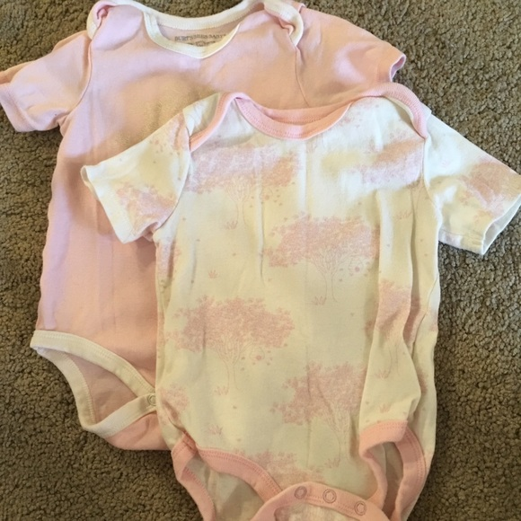 NWT Burt/'s Bees Infant 24 MONTHS Organic Cotton PINK Bodysuits 5-PACK