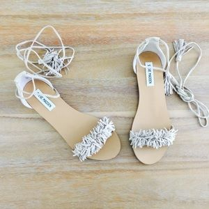 • Steve Madden 'Alaine' Fringe Lace Up Sandal •