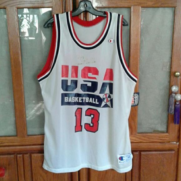 size 40 f8a1f b3c5f CHAMPION CHRIS MULLIN SIGNED TEAM USA JERSEY Boutique