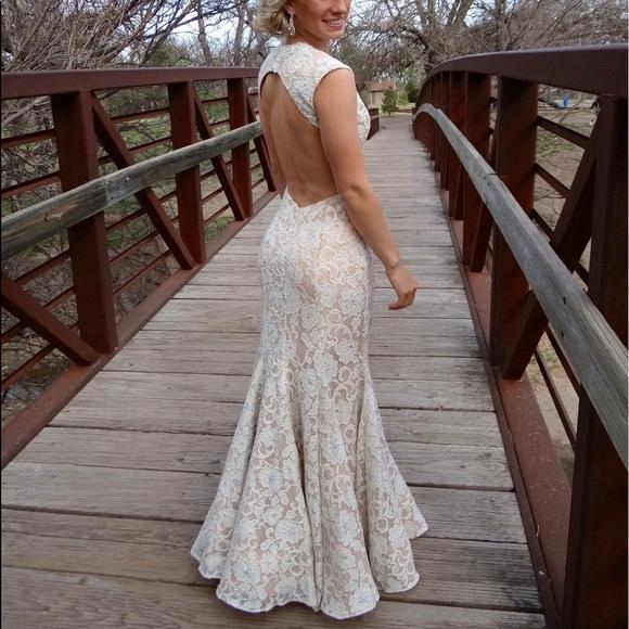 Tony Bowls Dresses Off White Cream Lace Prom Dress Poshmark