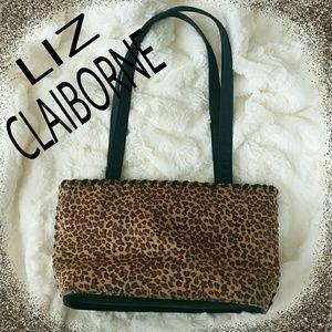 Liz Claiborne leopard purse.NWOT