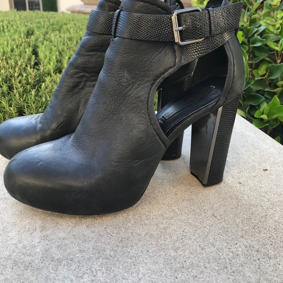 72bf4b5aa30455 BCBGMaxAzria Shoes - Bcbg Max Azria Naples High Heel Black Leather Heel