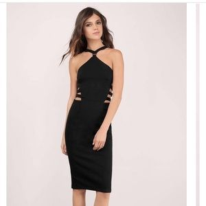 Dresses & Skirts - NWT sexy cut out strappy black dress lbd midi
