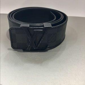 da751b9b9214 Louis Vuitton Accessories - Authentic  Louis Vuitton Damier Graphite Belt