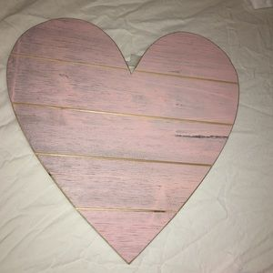 Other - Light pink wood heart for wall decor