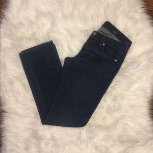 J. Crew match stick jeans size 27