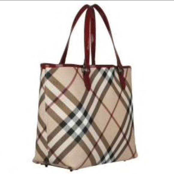 c89d7046145 Burberry Handbags - Burberry Patent Supernova Check Tote