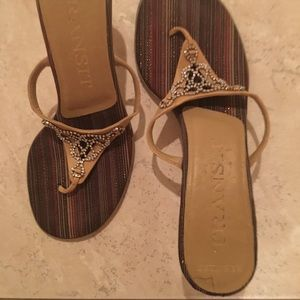 Shoes - Transit Tan sandals with jewels
