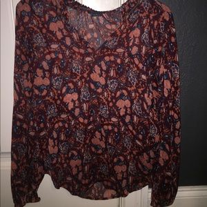 Small Lucky Brand Floral Blouse