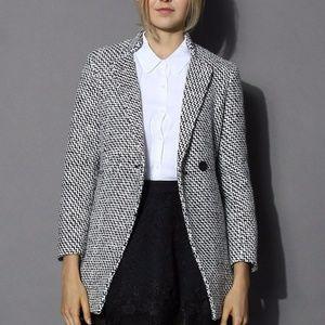 Jackets & Blazers - Double Breasted Medium Weight Tweed Coat XL NEW