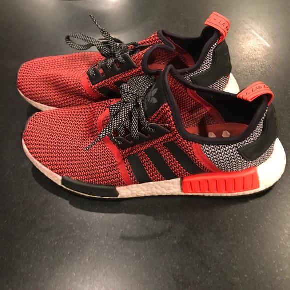 Adidas zapatos hombre  NMD pk1 Rojo y gris poshmark