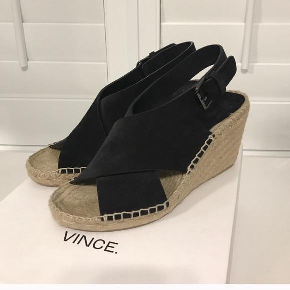 d6c5997fd5 Vince Shoes | Sabrina Wedge Excellent Condition | Poshmark