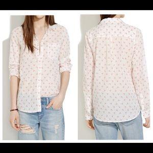 Madewell flamingo flick boy shirt size SM