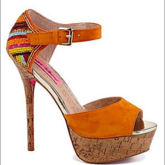 Betsey Johnson Platform Heel Sandals