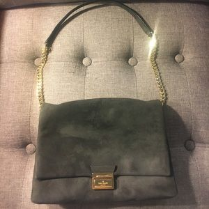 Kate Spade Black Suede Chain Strap Handbag