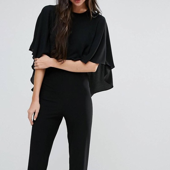 Endless Rose Pants Black Jumpsuit With Cape Top By Poshmark