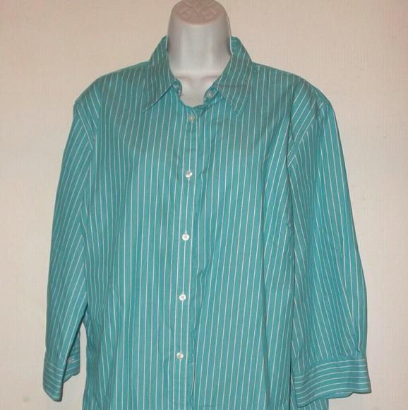 0d29413517b Chaps Tops - Classic No Iron Button Up Shirt Womens Plus 2X