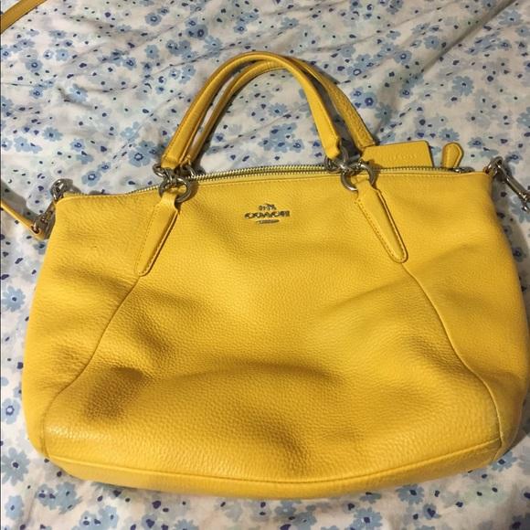 97b032665182 Coach Handbags - 💯 authentic Yellow Mustard Coach purse