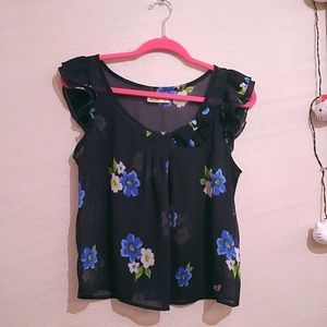 Hollister Tops - Navy Blue Hollister Blouse