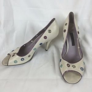 Marc Jacobs cream and multicolor pumps