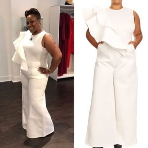 women's white jumpsuits for plus size on poshmark