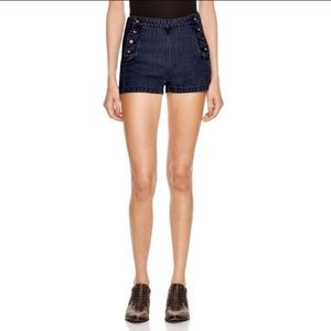 Free people lumineer denim sailor shorts😍