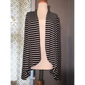 Fenn wright Manson 3x navy/white striped Cardigan
