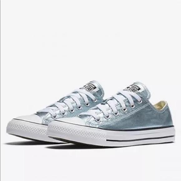 converse metallic blue