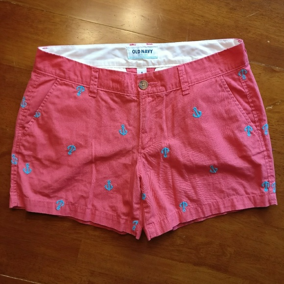 Old Navy Pants - Old Navy Cotton w/ Embroidered Anchors Shorts