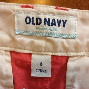 Old Navy Shorts - Old Navy Cotton w/ Embroidered Anchors Shorts
