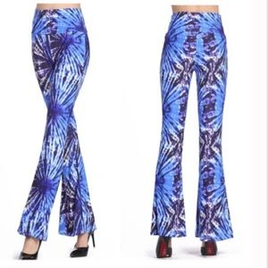 Pants - Bold Tie Dye Bell bottom high waisted pants