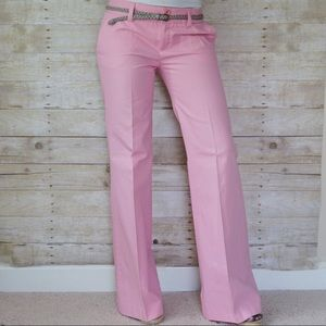 Zara Pink Cotton Pants Trousers sz 8, 34 in inseam