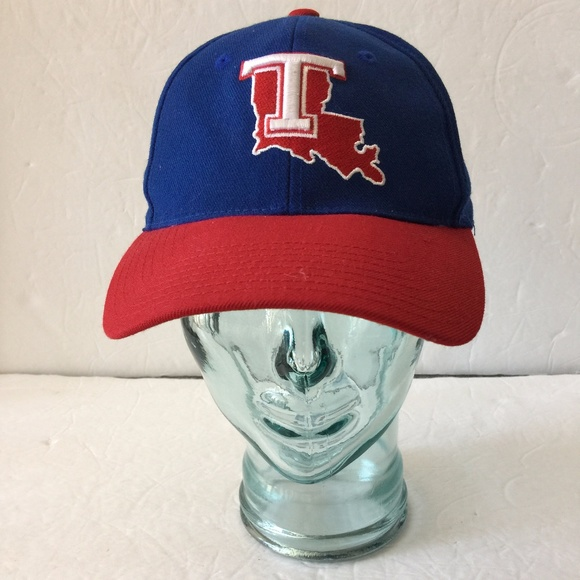 Louisiana Tech Bulldogs Blue 100% Wool Hat 7.25 08d74c2fea42