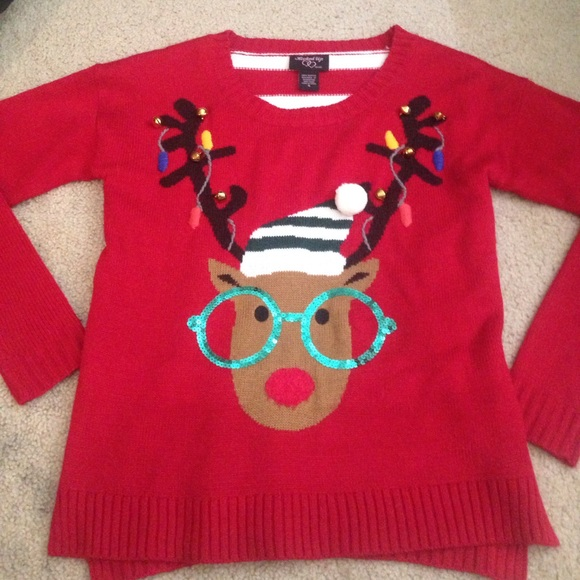 macys sweaters ugly hipster reindeer christmas sweater - Reindeer Christmas Sweater