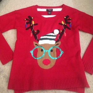 Macys Christmas Sweaters.Ugly Hipster Reindeer Christmas Sweater
