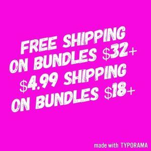Bundle likes-I'll send offer w/⬇️ shipping🎉