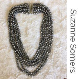 Suzanne Somers Black Mallorca Pearls