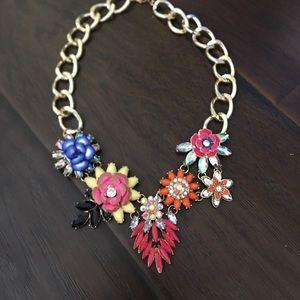 Gorgeous , rainbow colorful flower unique necklace