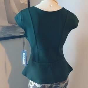 Betabrand Tops - #NWT #Betabrand #WorkIt Pine #Peplum Top