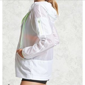 Sexy Windbreaker jacket white active gym workout