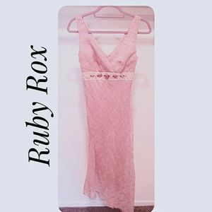 Ruby Rox Vintage Look  Prom Dress Antique Pink