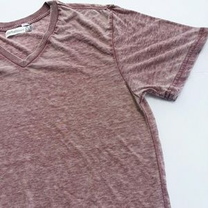 Colorfast Apparel // Oversized Heather Red V Neck