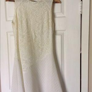 Gorgeous Sandro lace sleeveless white dress