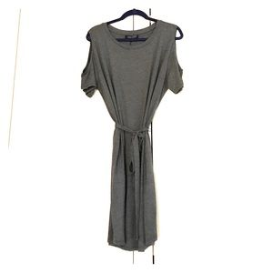Cozy cotton belted dress size L