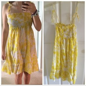💕Yellow and white floral sundress!