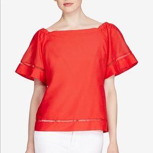 Lauren Ralph Lauren NWT Red Off Shoulder Top