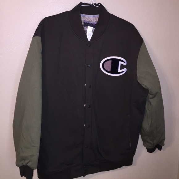 4202f70f6afd Champion Other - 2X Champion Varsity Jacket olive green brown