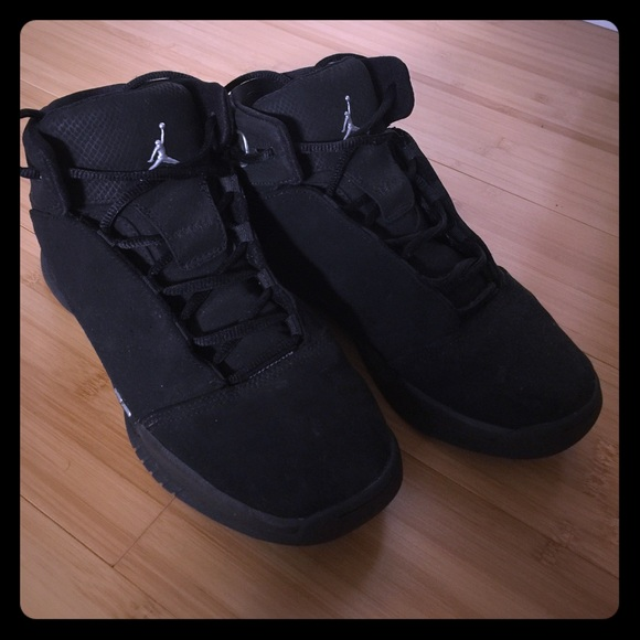 238d226854a9b0 Air Jordan Shoes - Black suede High top Jordan s