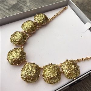 Jewelry - Large Gold glitter sparkly necklace nwt prom