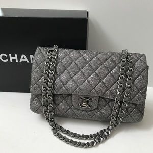CHANEL Palladium Double Flap Bag